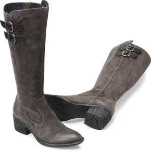 "Born ""Basil"" Gray suede leather tall boot 5.5 NEW"